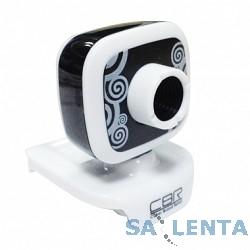Веб-камера CW-835M Black, универс. крепление, 4 линзы, 1,3 МП, эффекты, микрофон, CW 835M Black