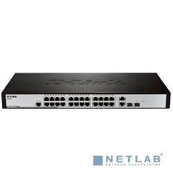 D-Link DES-3200-26/C1/C1A Управляемый коммутатор 2 уровня с 24 портами 10/100BASE-T + 2 комбо-портами 1000Base-T/SFP