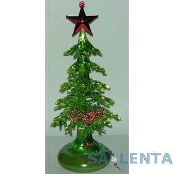 ORIENT 303G Новогодняя елка,  зеленый перламутр, красная звезда, подсветка, c музыкой детства, питание от USB/встроенная батарейка