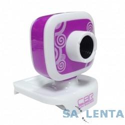 Веб-камера CW-835M Purple, универс. крепление, 4 линзы, 1,3 МП, эффекты, микрофон, CW 835M Purple