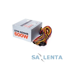 Блоки питания STM-60SHB 600W, ATX, 120mm ball bearing, 4xSATA, 1xPCI-E