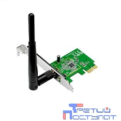 ASUS PCE-N10 WiFi Adapter PCI-E (PCI-Ex1, WLAN 150Mbps, 802.11bgn) 1x ext Antenna