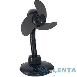 ORIENT L-33H Настольный вентилятор со встроенным HUB 4port USB,высота 22 см,мягкие лопасти,черный,USB