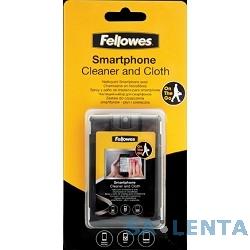 Fellowes Чистящий набор для смартфонов FS-9910601 {чистящий спрей для сенсорных экранов 20 мл, салфетка из микрофибры и плоский чехол для транспортировки}