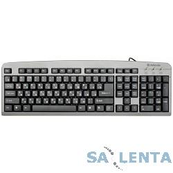 Defender Element HB-520 Grey USB [45523] {Клавиатура проводная, 104+3кн. управление}
