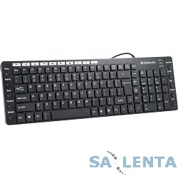 Defender OfficeMate MM-810 Black USB [45810] {Клавиатура проводная,105+20кн}