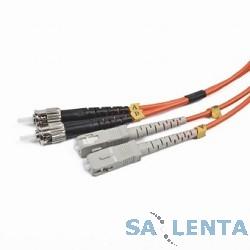 Gembird Cablexpert [CFO-STSC-OM2-2M] Двунаправленный мультимодовый оптоволоконный кабель, ST/SC, (50/125 OM2), 2 м.