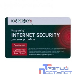 KL1941ROBFR Kaspersky Internet Security Multi-Device Russian Edition. 2-Device 1 year Renewal Card