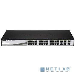 D-Link DES-1210-28P/C1A/C2A PROJ Настраиваемый коммутатор WebSmart с 24 портами 10/100Base-TX, 2 портами 10/100/1000Base-T, 2 комбо-портами 100/1000Base-T/SFP