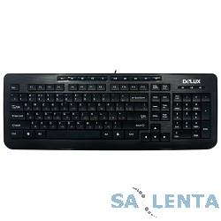 Клавиатура DELUX «DLK-3100U» Ultra Slim, USB (черная),ММ