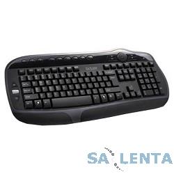 Клавиатура DELUX «DLK-9050(U)»  ММ, 104 + 15 кн ( черная) , USB