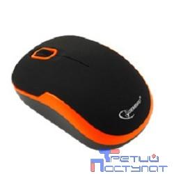 Gembird MUSW-200 Black-Orange USB {Мышь беспроводная, soft touch, черн/оранж, 2кн.+колесо-кнопка, 2.4ГГц}