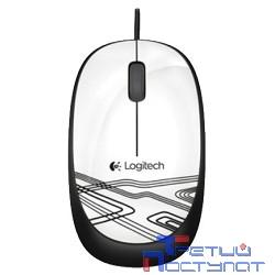 910-002944/910-003117 Logitech Mouse M105 Optical Mouse USB White Ret