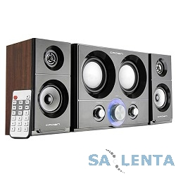 Акустическая система 2.1 CROWN CMS-3800 (16W+10W*2 (RMS)=36W; приёмник FM; картридер; интерфейс USB; IR пульт)