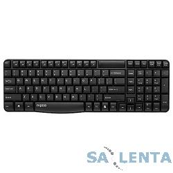 Клавиатура Rapoo E1050 черный USB Беспроводная 2.4Ghz