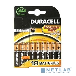 DURACELL LR03-18BL BASIC AAA (18 шт. в упаковке)
