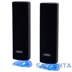 Perfeo PF-047 чёрный {Колонки 2.0, мощность 2х3 Вт (RMS), USB}