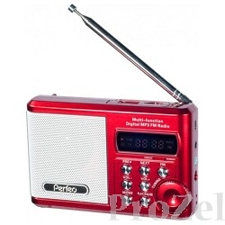 Perfeo мини-аудио Sound Ranger, FM MP3 USB microSD In/Out ридер, BL-5C 1000mAh красный (PF-SV922RED)