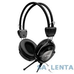 A4Tech HS-19-1, Grey/черный {Гарнитура стерео, мониторного типа, динамик 40мм 20-20000Гц 32 Ом 102дБ, микрофон фикс 50дБ, амбешуры съемные, кабель 2m 3.5 jack 3pin}