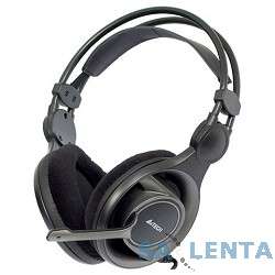 A4Tech HS-100, черные {Гарнитура, мониторные, 20 — 20000Гц, длина шнура 2м}