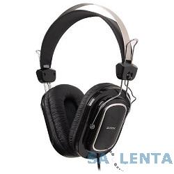 A4Tech HS-200,Black {Гарнитура стерео, монитор типа, рег громкости на проводе, 20-20000Гц 32 Ом 111дБ, микр подвижной 58дБ, кабель 2, 3.5 jack 3 pin}