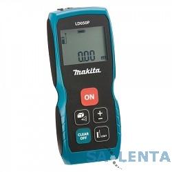 Makita LD050P Дальномер лазер,2×1.5В-LR03(AAA),635нм,точн-2мм,дал-0.05-50м,0.1кг,кор,чехол