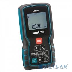 Makita LD080PI Дальномер лазер,2x1.5В-LR03(AAA),635нм,точн-1.5мм,дал-0.05-80м,0.138кг,кор,чехол+датчик угла наклона