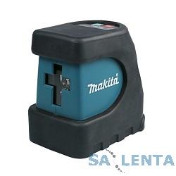 Makita SK102Z Уровень лазер,3х1.5В-LR6(AA),15м,точн-0.3ммм,0.5кг,чем,магнитное крепление к стене