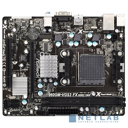 ASRock 960GM-VGS3 FX RTL {AM3+, AMD760G, DDR3, PCI-E, GBL, SATAII, D-Sub, mATX}