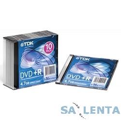 TDK Диск  DVD+R 4.7Gb 16x SJC (10шт) DVD+R47SCED10-L, (t19447)