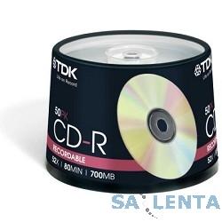 TDK Диск  DVD+R 4.7Gb 16x Cake Box (50шт)  DVD+R47CBED50, (t19444)