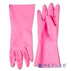 Перчатки ЗУБР ''МАСТЕР'' латексные, повышенной прочности, х/б напыление, рифлёные, 100% латекс, 100% хлопок, размер S [11250-S]