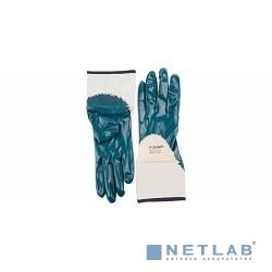 Перчатки ЗУБР ''МАСТЕР'' рабочие с нитриловым покрытием ладони, размер M (8) [11271-M]