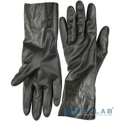 Перчатки KRAFTOOL противокислотные, неопреновые, повышенной прочности, с х/б напылением, размер XL [11282-XL]