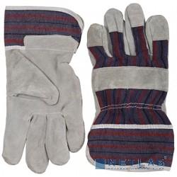 Перчатки STAYER ''MASTER'' рабочие комбинированные кожаные из спилка, XL [1130-XL]