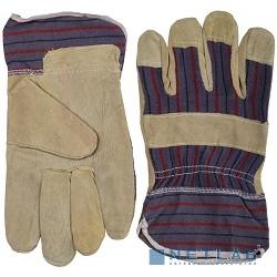 Перчатки STAYER ''MASTER'' рабочие комбинированные кожаные из спилка с тиснением, XL [1131-XL]