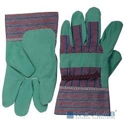 Перчатки STAYER ''MASTER'' рабочие, искусственная кожа, зеленые, XL [1132-XL]