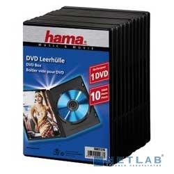 HAMA Коробка Hama H-51276 Jewel Case для DVD 10 шт. пластик черный
