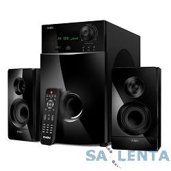 SVEN MS-2100, черный {2.1, 50Вт+2х15Вт, FM-тюнер, USB/SD, дисплей, ПДУ}
