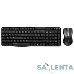 Клавиатура + мышь Rapoo X1800 черный USB Беспроводная 2.4Ghz