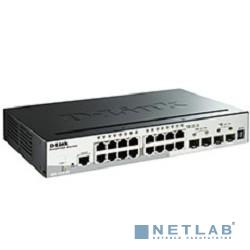 D-Link DGS-1510-20/A1A PROJ Управляемый стекируемый коммутатор SmartPro с 16 портами 10/100/1000Base-T, 2 портами 1000Base-X SFP и 2 портами 10GBase-X SFP+