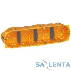 Legrand80054 Коробка Batibox для сухих перегородок, 4 поста, 50мм