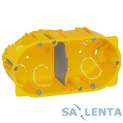 Legrand 80052 Коробка Batibox для сухих перегородок, 2 поста, 50мм