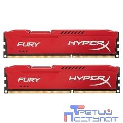 Kingston DDR3 DIMM 16GB (PC3-15000) 1866MHz Kit (2 x 8GB)  HX318C10FRK2/16 HyperX Fury Red Series CL10