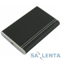 ORIENT  2506U2, Внешний контейнер , External Case 2.5″ SATA HDD, USB 2.0, алюминиевый корпус, стильная кожаная отделка черного цвета