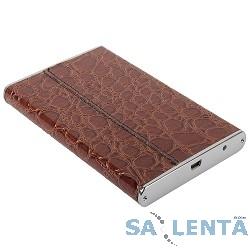 ORIENT 2508U2 Внешний контейнер , External Case 2.5″ SATA HDD, USB 2.0, алюминиевый корпус, кожаная отделка «крокодил» коричневого цвета