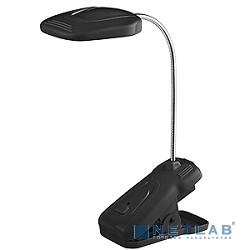 ЭРА Б0003729 Настольный светодиодный светильник NLED-420-1.5W-BK черный {на прищепке, цвет. температура 3000К}