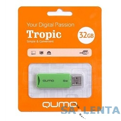 USB 2.0 QUMO 32GB Tropic Green [QM32GUD-TRP-Green]