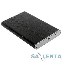 ORIENT 2559U3 Внешний контейнер , External Case 2.5″ SATA HDD, USB 3.0, алюминиевый корпус, кожаная отделка «крокодил» черного цвета