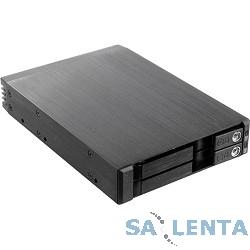 Procase  T2-012-SATA3-BK {Hot-swap корзина 2*2.5″ SATA3/SAS 6Gb (черный) hotswap trayless aluminium mobie rack module (1×3,5) 1xFAN 80x15mm}